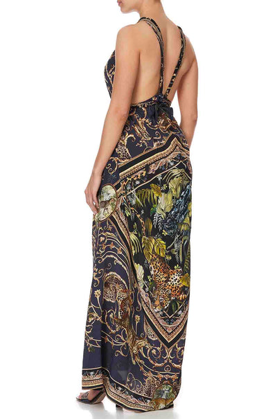 Camilla - Seven Day Weekend Long Dress w/ Halter Neckline
