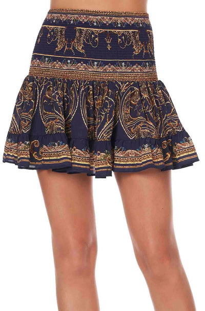 Camilla - Seven Day Weekend Short Shirred Skirt