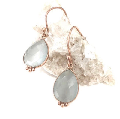 Nicole Fendel - Ada Drop Earring in Mint Chalcedony