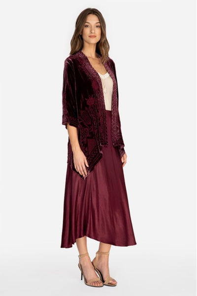 Johnny_Was_Top_Daniella_Velvet_Draped_Cardigan_Jacket_Bordeaux_www.zambezee.com.au