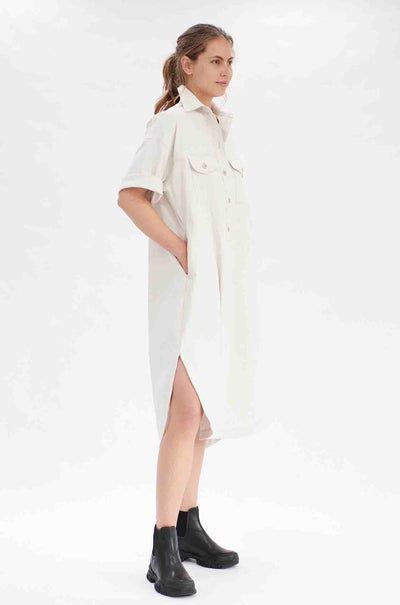 Mela Purdie - Shirtmaker Dress in Polished Canvas
