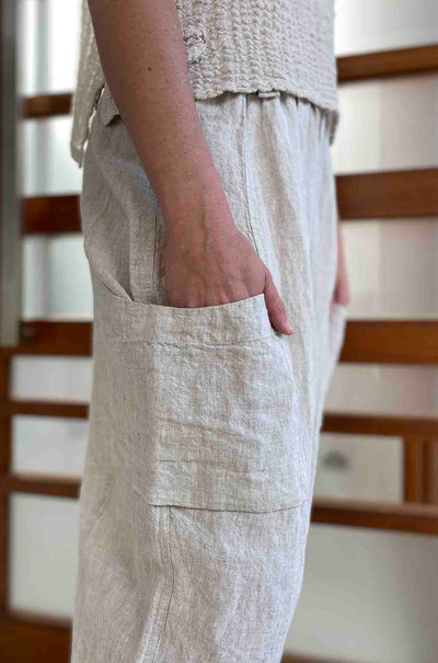 Mara_Gibbucci_Side_Pocket_Pant_Bottoms_Natural_Linen_www.zambezee.com.au