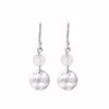 Nicole Fendel - Silver Rose Sentiments Love Disc Earrings
