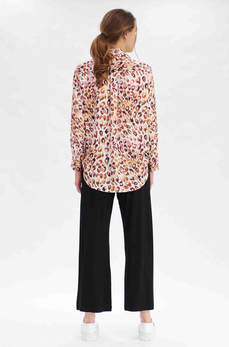 Mela Purdie - Soft Shirt in Quartz Animal Print
