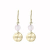 Nicole Fendel - Soft Gold Rose Sentiments Love Disc Earrings