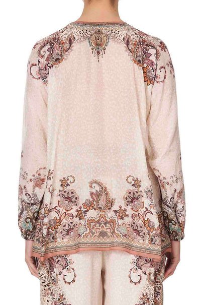 Camilla - Tales Of Talitha Lace Up Blouse