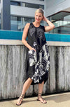 Mara_Gibbucci_Tucked_Hem_Dress_With_Tie_Black_www.zambezee.com.au