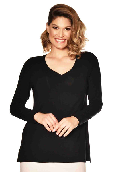 Paula Ryan - V Neck Long Sleeve Top