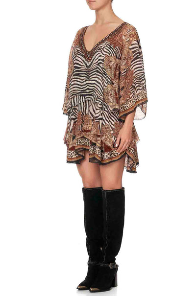 Camilla_Wild_Fire_Layered_Frill_Short_Dress_www.zambezee.com.au