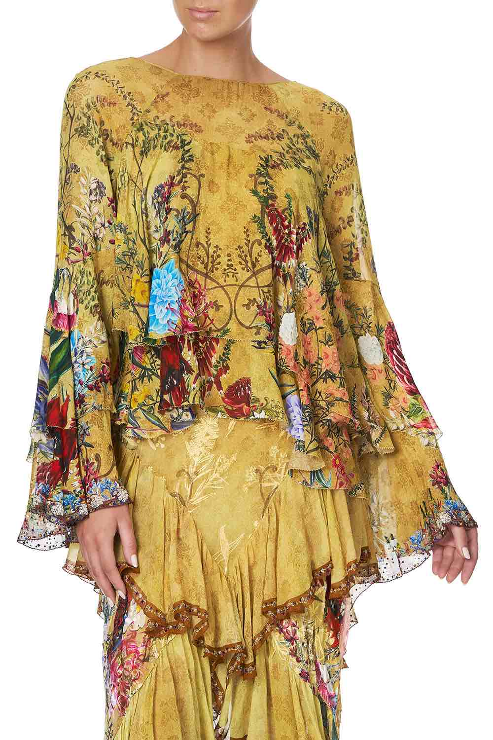 Camilla - Among The Gumtrees Flared Layered Blouse