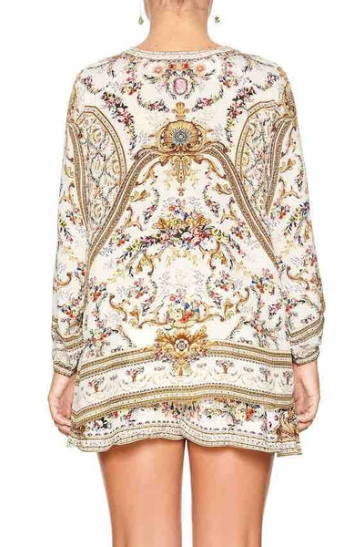 Camilla - Olympe Ode Lace Up Blouse