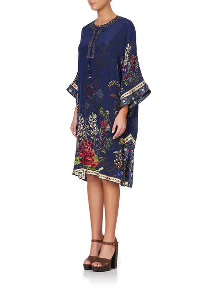 Camilla - Wings In Arms Lace Up Front Kaftan