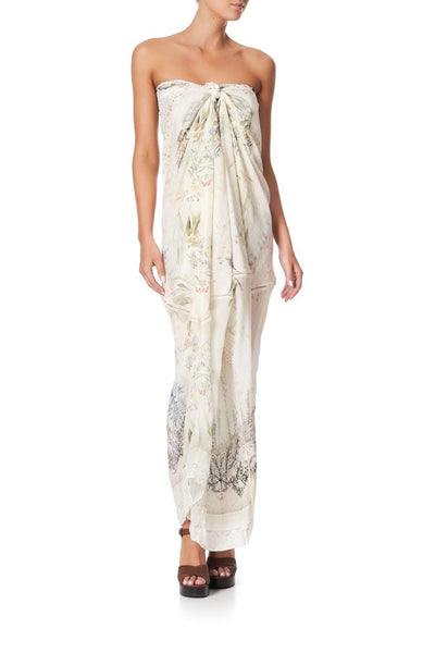 Camilla - Memories Of Moree Panelled Round Neck Kaftan