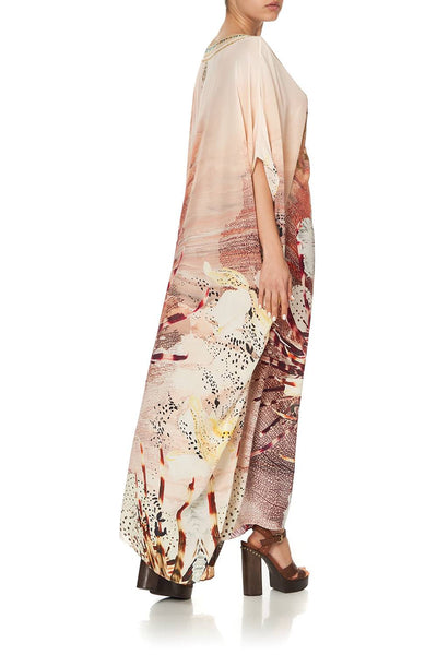 Camilla - Coastal Treasure Round Neck Kaftan