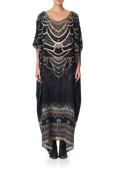 Camilla - Under A Full Moon Round Neck Kaftan