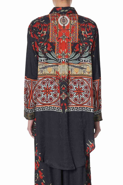 Camilla - Paved In Paisley Shirt Tunic w Pockets