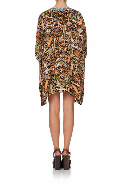 Camilla - Fauna Electro Short Lace Up Kaftan