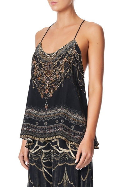 Camilla - Under A Full Moon T Back Shoestring Top