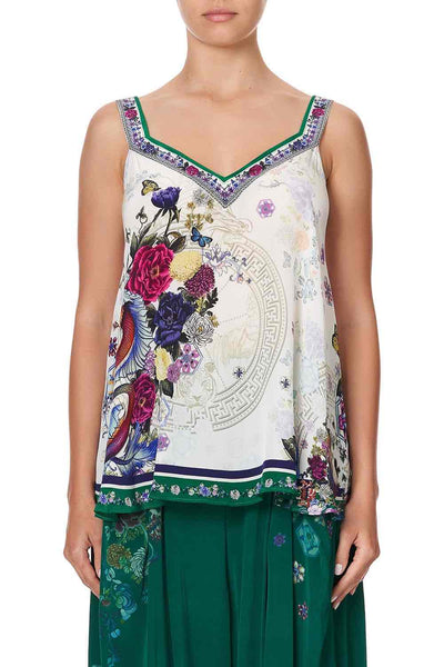 Camilla - Gentle Moon V-Neck Strap Top