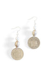 Mulberry Mongoose - Ethiopian Silver & Coin Earrings