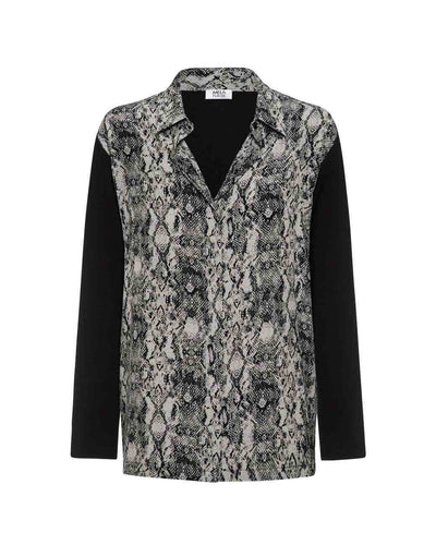 Mela Purdie - Spliced Soft Shirt in Viper Print