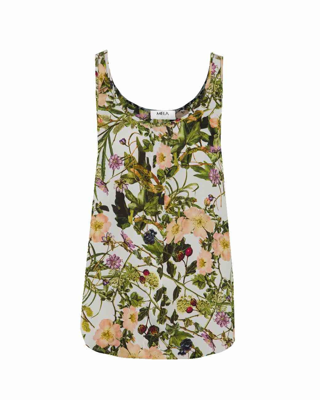 Mela Purdie - Halo Tank in Passion Vine Print Satin