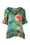 Trelise Cooper - Teal Floral Top Me Up Top