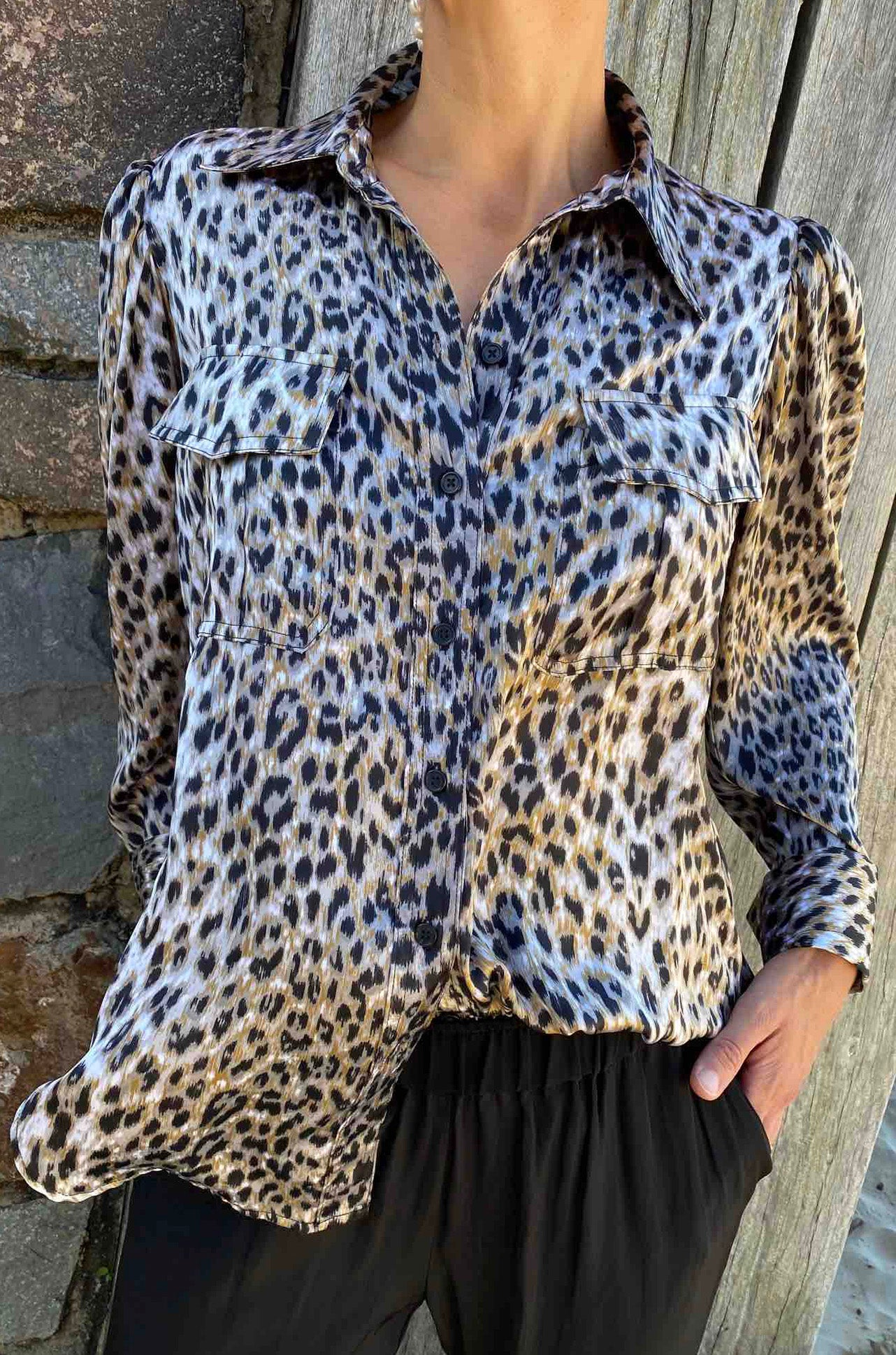 Mela Purdie - Plantation Shirt in Snow Leopard