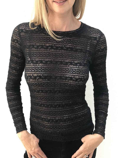 Marc Cain - Long Sleeve Lace Top