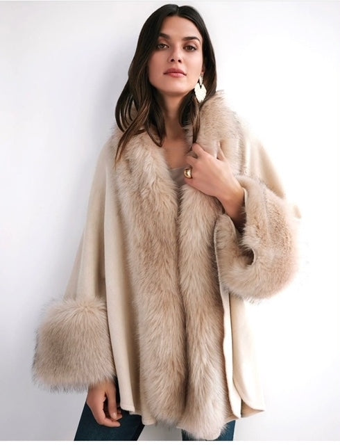 Joseph Ribkoff - Faux Fur Trim Coat