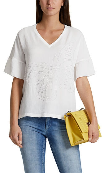 Marc Cain - Embellished Butterfly Top