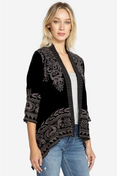 Johnny Was - Hirsch Velvet Draped Cardigan