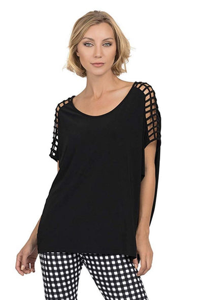 Joseph Ribkoff - Cage Shoulder Top