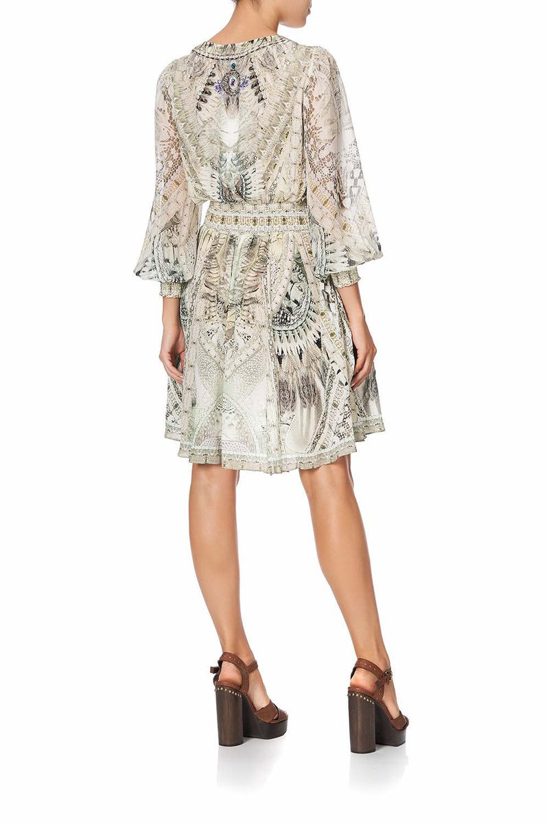 Camilla - Daintree Dreaming Lace Up Shirred Waist Dress