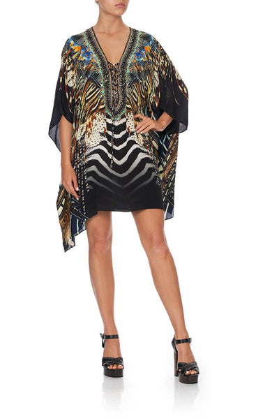 Camilla - Lost Paradise Short Lace Up Kaftan