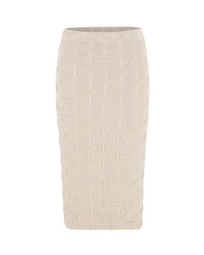 Mela_Purdie_Pencil_Skirt_Bottoms_Macrame_Jacquard_Black_Almond_www.zambezee.com.au