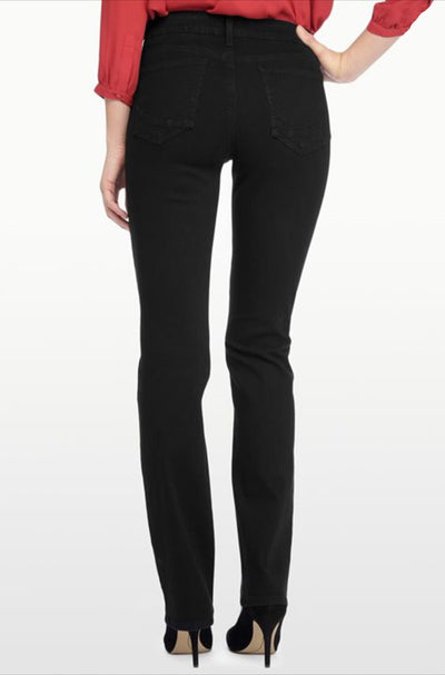 NYDJ - Marilyn Straight Leg Jean in Black