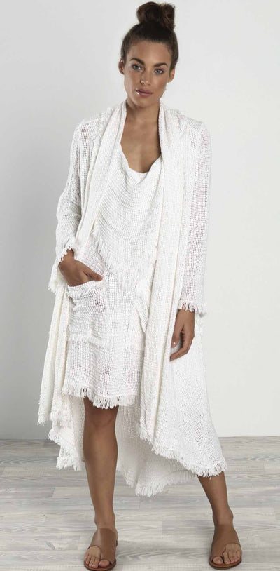 Lisa Brown - Mika Mesh Scarf Dress
