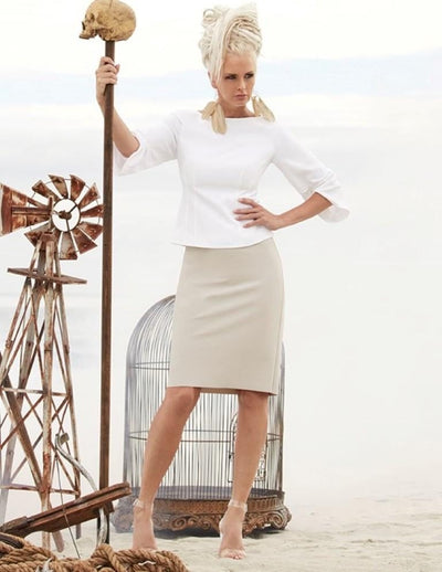 Paula Ryan - Ruched Sleeve Darted Top