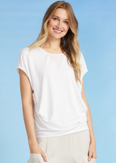 Paula Ryan - Side Tuck Cap Sleeve Top