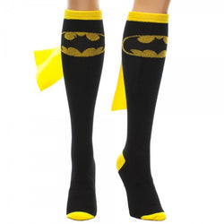 Batgirl Knee High Socks With Capes