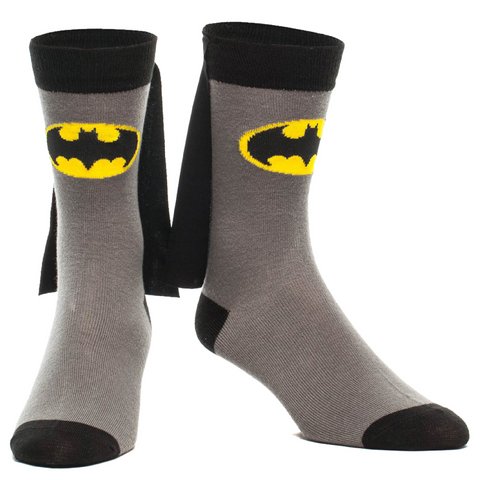 Batman Crew Socks With Capes
