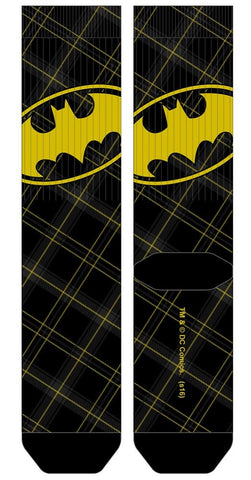 Batman Plaid Crew Socks