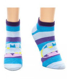 Batman Blue Stripe Ankle Socks