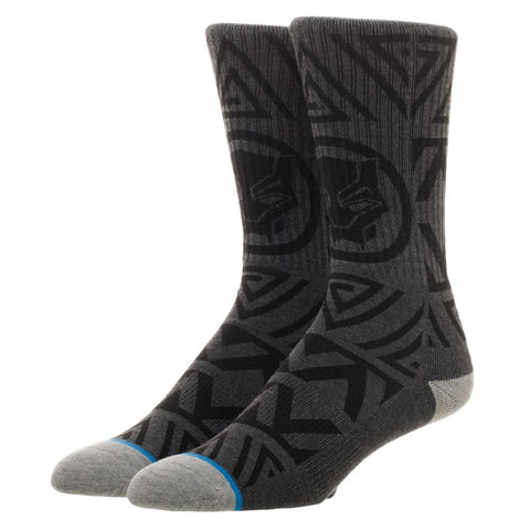 Black Panther Pattern Crew Socks
