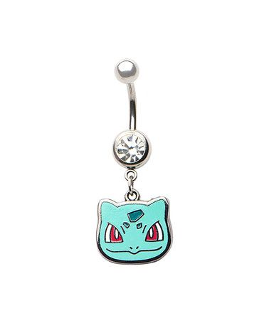Pokémon Bulbasaur Navel Ring