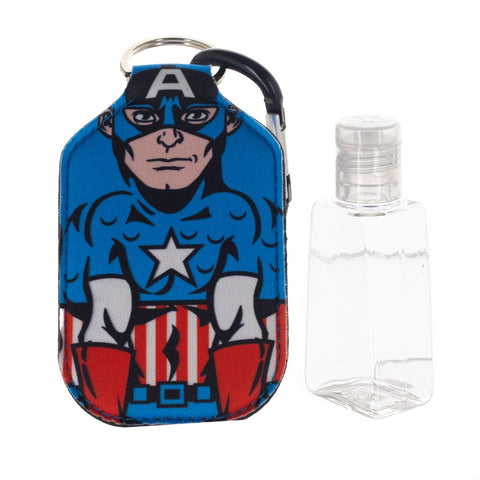 Captain America Hand Sanitizer Bottle Holder Keychain