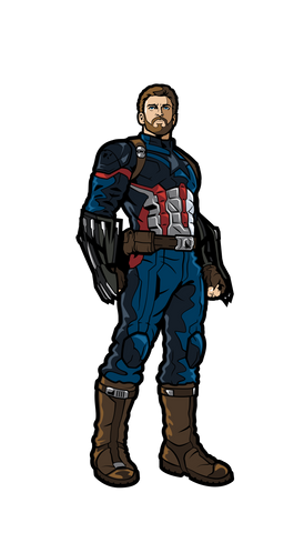Avengers Infinity War Captain America FiGPiN