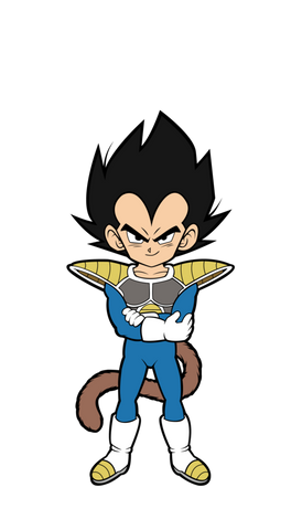 Dragon Ball Super Broly Movie Kid Vegeta FiGPiN Mini
