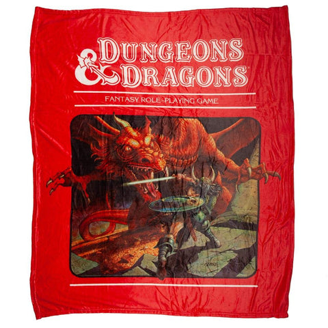 Dungeons & Dragons Rule Book Throw Blanket